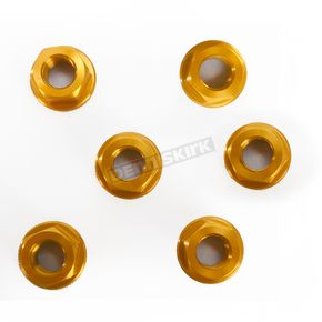 Driven Racing Gold Aluminum Sprocket Nut for Ducati 6-Bolt Hubs - DSN6GD