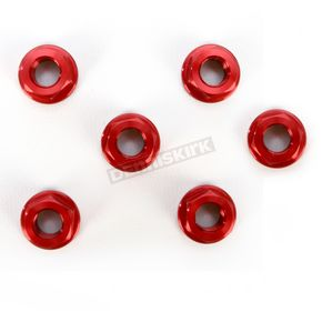 Driven Racing Red Aluminum Sprocket Nut for Ducati 6-Bolt Hubs - DSN6RD