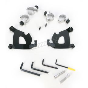 Memphis Shades Black Trigger-Lock Hardware Kit for Cafe Fairing - MEB1996
