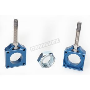 Bolt Motorcycle Hardware Blue Chain Adjuster Blocks - CHAD.KX.BL