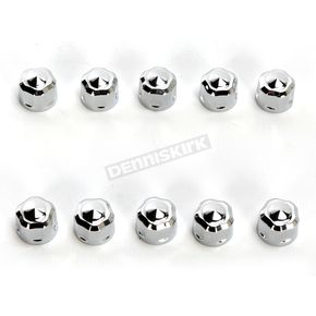 Ciro Chrome Diamond-Cut Crown Bolt Cap Set - 70020