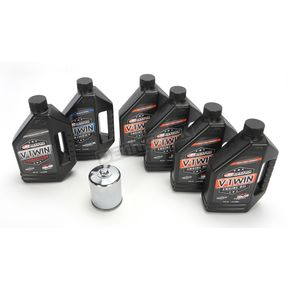 Maxima Complete MIneral Oil Change Kit in a Box w/Black Filter - 90-069016B
