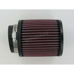 K & N Universal Round/Straight Clamp-On Air Filter - 4 1/2 in. Diameter x 5 in. Long - RB-0910