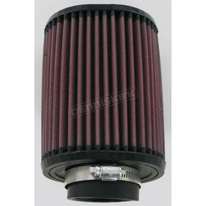 K & N Universal Oval Clamp-On Air Filter - 3 3/4 in. x 4 1/2 in. Diameter x 6 in. Long - RU-1150