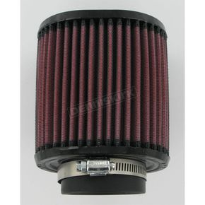 K & N Universal Oval Clamp-On Air Filter - 3 3/4 in. x 4 1/2 in. Diameter x 5 in. Long - RU-1220