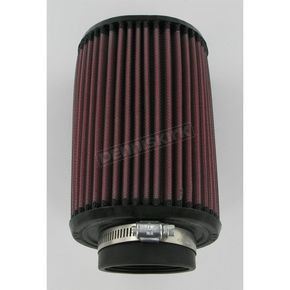 K & N Universal Oval Clamp-On Air Filter - 3 3/4 in. x 4 1/2 in. Diameter x 7 in. Long - RU-1240