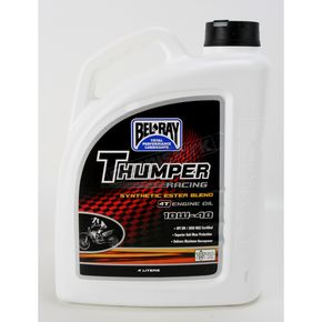Bel-Ray Thumper Racing Synthetic Ester Blend 4T 10W40 Engine Oil - 99520-B4LW