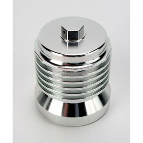 Chrome FLO Stainless Steel Reusable Spin-On Oil Filter - PCS4C