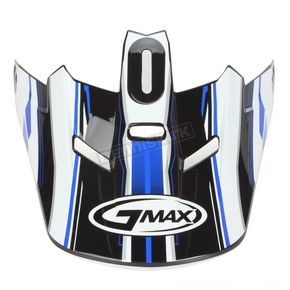 GMax Black/Blue/White Visor for Youth GM46.2 Traxxion Helmet - 72-1202