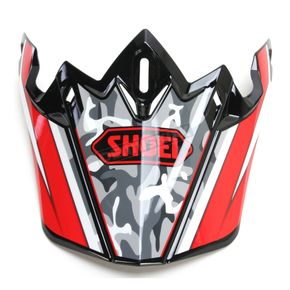 Shoei Helmets Red/Black/White Visor for VFX-W  Turmoil TC-1 Helmets - 0245-6089-01
