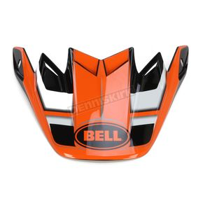Bell Helmets Orange/Black/White Factory Moto-9 Carbon Flex Visor - 7071245