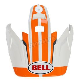 Bell Helmets Orange/White/Black Raid Visor for the MX-9 Adventure Helmet - 7071378