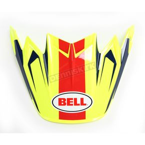 Bell Helmets Fluorescent Yellow/BLue/Red Visor for Moto-9 Flex Vice Helmets - 7081531