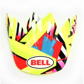 Bell Helmets Hi-Viz Yellow/Red/Blue Visor for MX-9 Tagger Double Trouble Helmets - 7081607