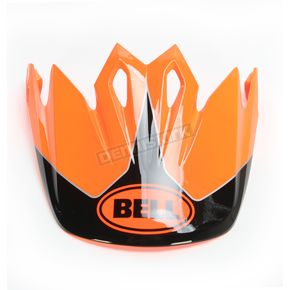Bell Helmets Fluorescent Orange /Black Visor for MX-9 Stryker Helmets - 7081610