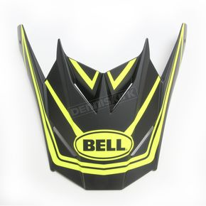 Bell Helmets Matte Black/Hi-Viz Yellow Visor for SX-1 Whip Helmets - 7081612