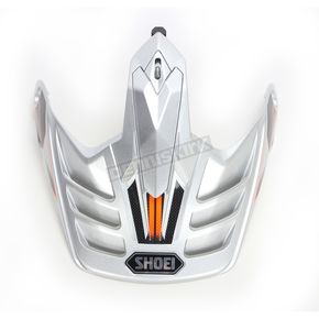 Shoei Helmets Silver/Black/Orange Visor for Hornet X2 Navigate Helmets - 0224-6012-08