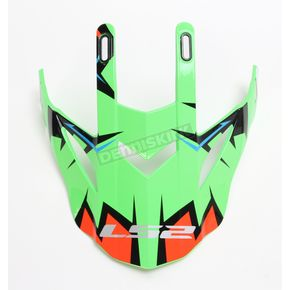 LS2 Green/Black/Orange Visor for Fast Explosive Helmets - 02-926