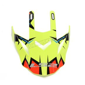 LS2 Black/Yellow/Orange Visor for Fast Explosive Helmets - 02-927