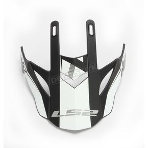 LS2 Gray/White Visor for Fast/Fast Mini Race Helmets - 02-928