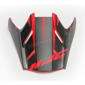 HJC Semi-Flat Black/Red/Blue Visor for HJC FG-MX Axis MC-1SF Helmets - 360-719