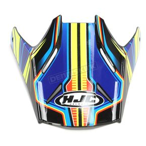 HJC Blue/Green Visor for HJC FG-MX Piston MC-2 Helmets - 362-929