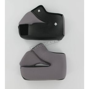 HJC Black/Gray Cheek Pad Set for HJC Helmets - 560-023