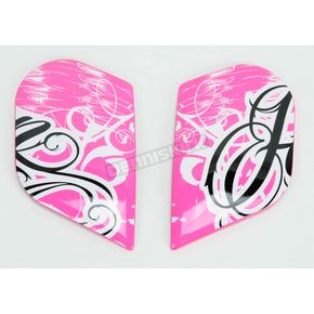 Icon Pink Side Plate Kit for Street Angel Airframe Helmet - 0133-0508