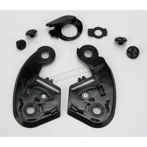 Shoei Helmets Black Base Plate Set for Multitec Modular Helmet - 01-250