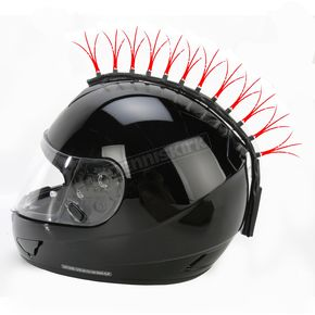 Helmets Inc Red Fiber Optic Motorcycle Helmet Mohawk - FOR