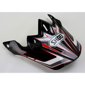 Shoei Helmets Black/Red/White VFX-W Malice Visor - 0245-6074-01
