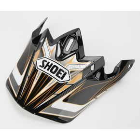 Shoei Helmets Black/Gold/White VFX-W Malice Visor - 0245-6074-09