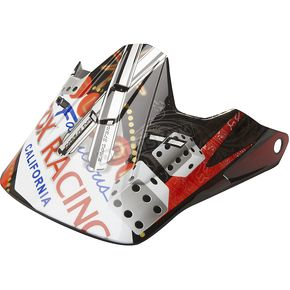 Fox Black/Red Visor for V1 Double Down Helmet  - 91582-017