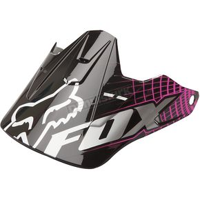 Fox Black/Pink Visor for V3 Vortex Helmet  - 91584-285-NS