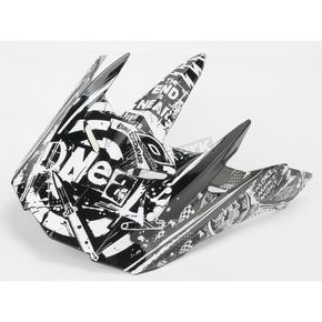 O'Neal Black/White 5 Series Element Switchblade Visor - 0521