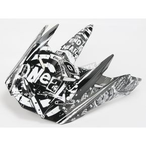 O'Neal Black/White Youth 5 Series Element Switchblade Visor - 0521