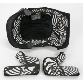 O'Neal Black/White 8 Series Helmet Liner - 0521