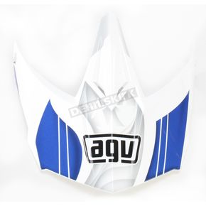 AGV White/Blue AX-8 Evo Flagestars Visor w/Screws - KIT75002017