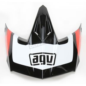 AGV Black/White/Red AX-8 Evo Klassik Visor w/Screws - KIT75002018