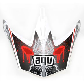 AGV White/Red MT-X Evolution Visor w/Screws - KU0902013