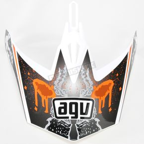 AGV White/Orange MT-X Evolution Visor w/Screws - KU0902015
