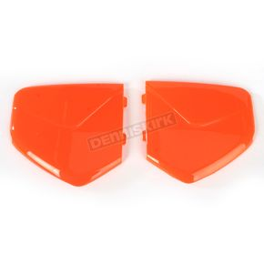 AFX Safety Orange Pivot Covers for AGV Helmets - 0133-0649