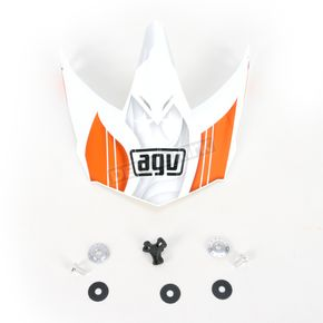 AGV White/Orange AX-8 Evo Visor w/Screws - KIT75002021