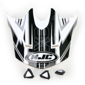 HJC Black/White Visor for HJC CL-X6 Slash Helmet - 732-959