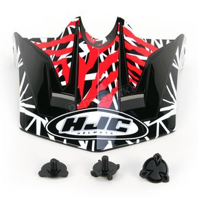 HJC Black/Dark Silver/Red Visor for HJC CL-XY  Fuze Youth Helmet - 272-919