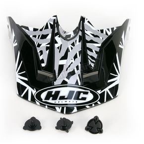 HJC Black/Dark Silver/White Visor for HJC CL-XY  Fuze Youth Helmet - 272-959