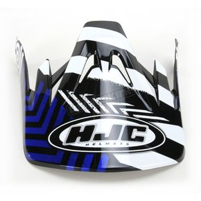 HJC Black/Blue/White Visor for HJC CS-MX Charge Helmet - 310-929
