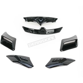 Bell Helmets Gloss Black Vent Kit for Bell Vortex/Revolver Helmets - 2035451