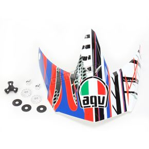AGV Red/Blue EVO AX8 Visor - KIT75002023