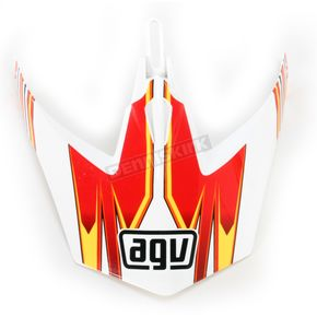 AGV White/Red/Yellow MTX Point Visor - KU0902018